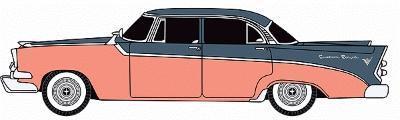 N Scale - Classic Metal Works - 50321  - Automobile, Dodge, Coronet - Painted/Unlettered - 1956 Dodge Royal 4-door Sedan