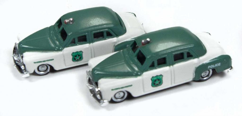 N Scale - Classic Metal Works - 50382 - Automobile, Dodge, Meadowbrook - Police Dept - 1950 Dodge Meadowbrook 4-door Sedan