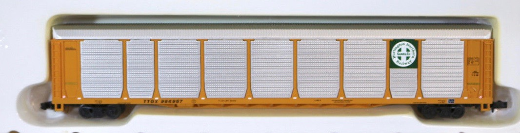N Scale - Con-Cor - 0001-603024-4 - Autorack, Enclosed, Bi-Level - Burlington Northern Santa Fe - 986944