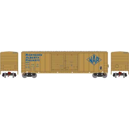 N Scale - Athearn - 17543 - Boxcar, 50 Foot, FMC, 5077 - Northern Alberta Railways - 050116