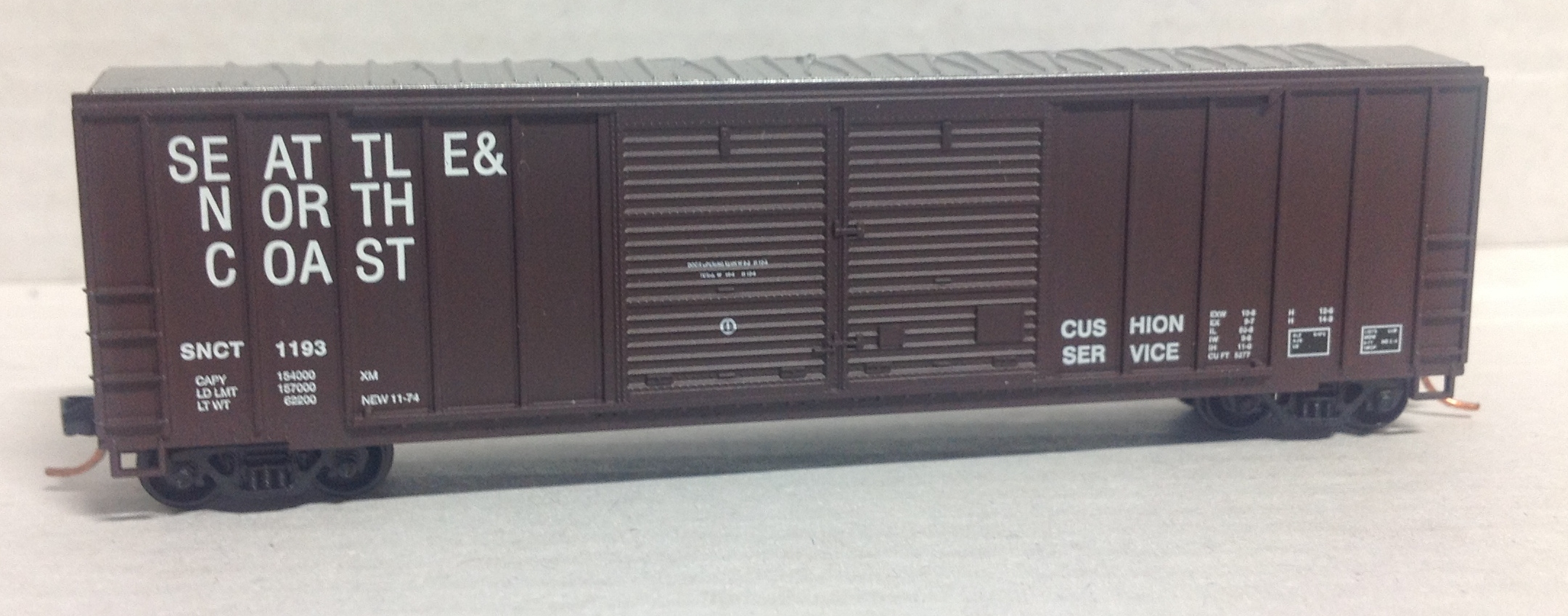 N Scale - Roundhouse - 8823 - Boxcar, 50 Foot, FMC, 5077 - Seattle & North Coast - 1193