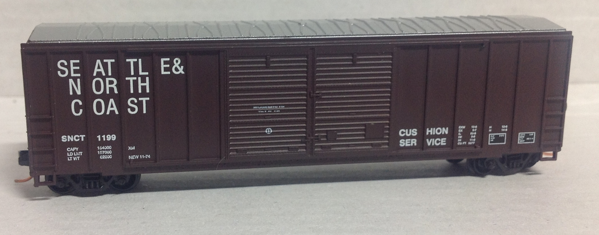 N Scale - Roundhouse - 8823 - Boxcar, 50 Foot, FMC, 5077 - Seattle & North Coast - 1199