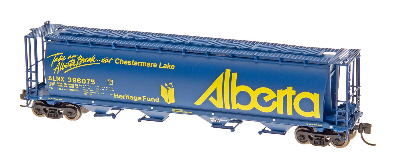 N Scale - InterMountain - 65117-61 - Covered Hopper, 4-Bay, Cylindrical - Alberta Government - 396072 Breton
