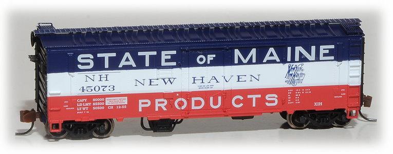 N Scale - Eastern Seaboard Models - 225306 - Boxcar, 40 Foot, XIH - New Haven - 45073