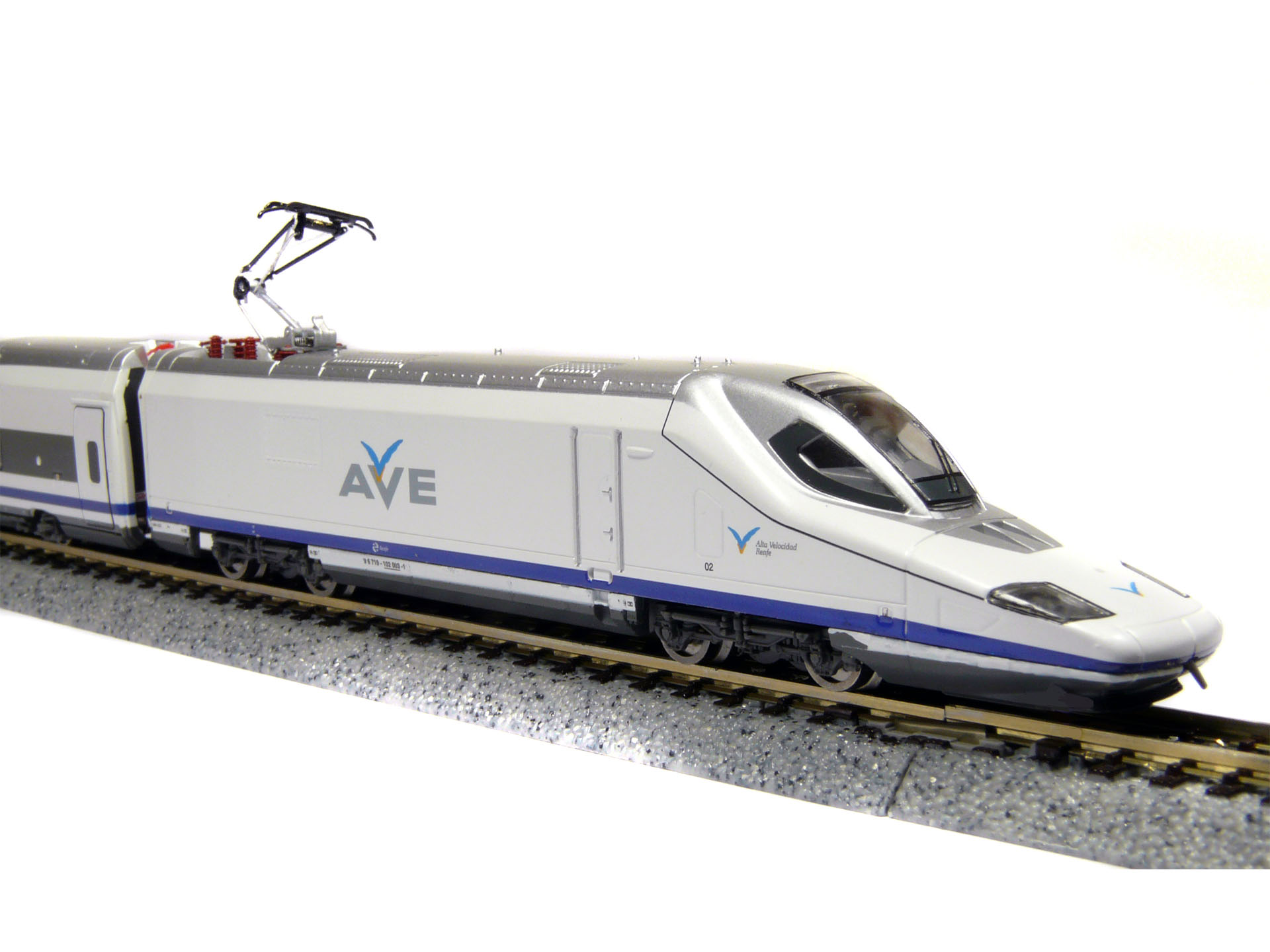 N Scale - TopTrain - 60300 - Passenger Train, Electric, AVE Serie 102 - Renfe - 102 00x