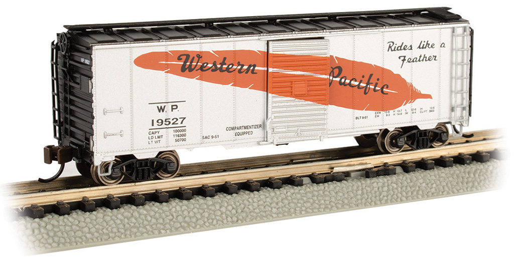 N Scale - Bachmann - 17062 - Boxcar, 40 Foot, PS-1 - Western Pacific - 19527