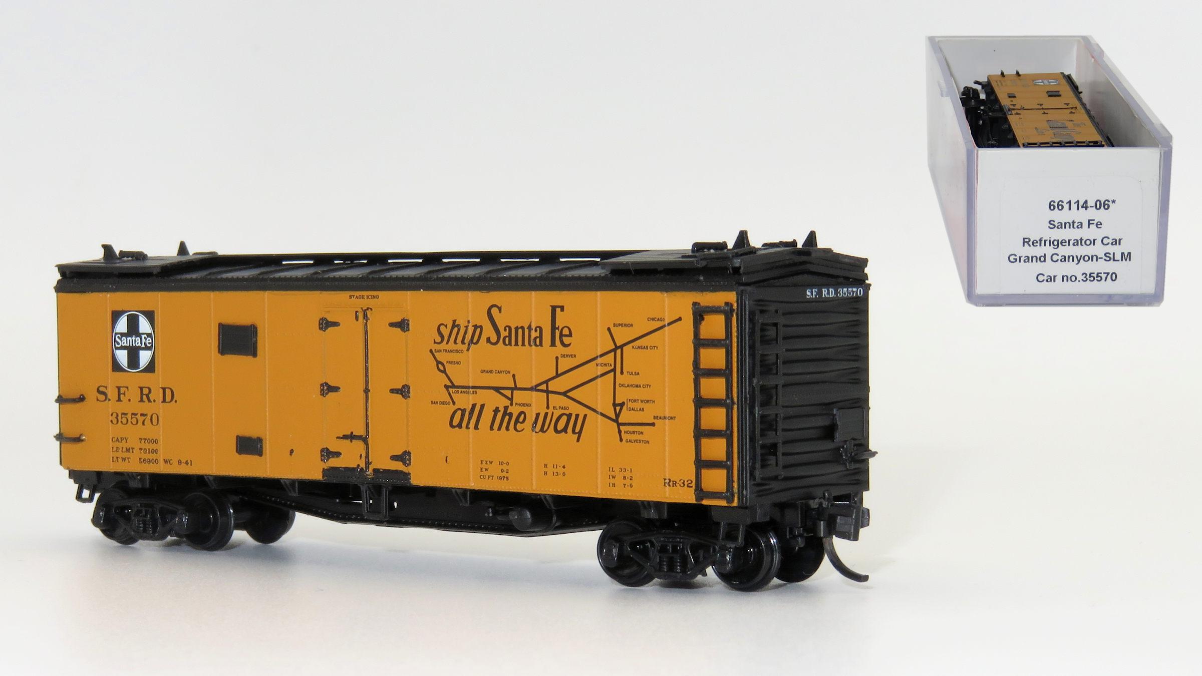 N Scale - InterMountain - 66114-06 - Reefer, 40 Foot, Steel, Santa Fe - Santa Fe - 35570
