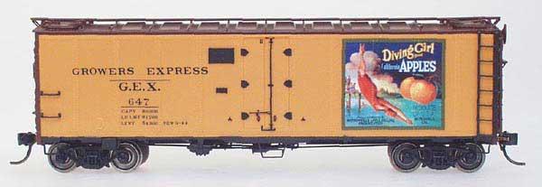 N Scale - YesterYear Models - S/R #2 - Reefer, 40 Foot, R-40-23 - Growers Express - 652