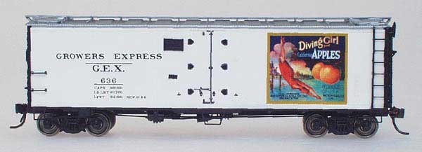 N Scale - YesterYear Models - S/R #2 - Reefer, 40 Foot, R-40-23 - Growers Express - 636