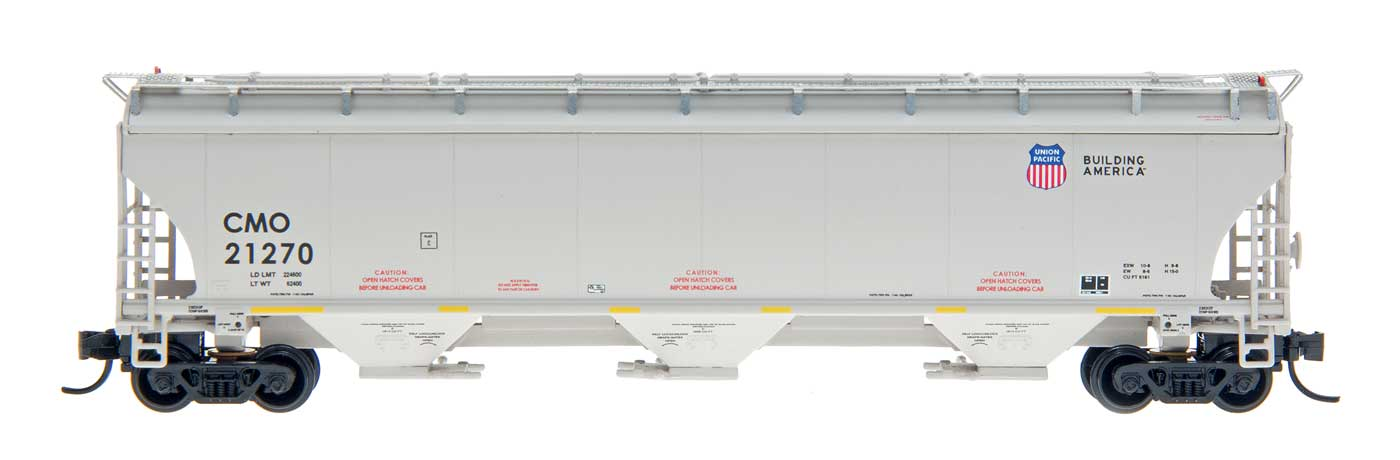 N Scale - InterMountain - 67235-17 - Covered Hopper, 3-Bay, Trinity 5161 - Union Pacific - 21230