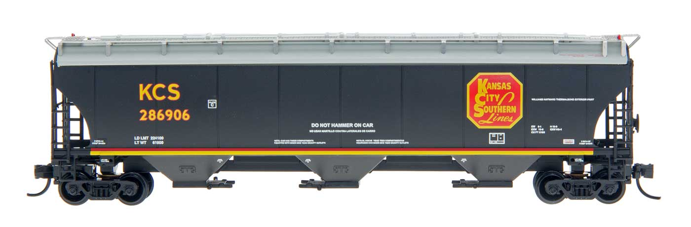 N Scale - InterMountain - 67237-12 - Covered Hopper, 3-Bay, Trinity 5161 - Kansas City Southern - 287343