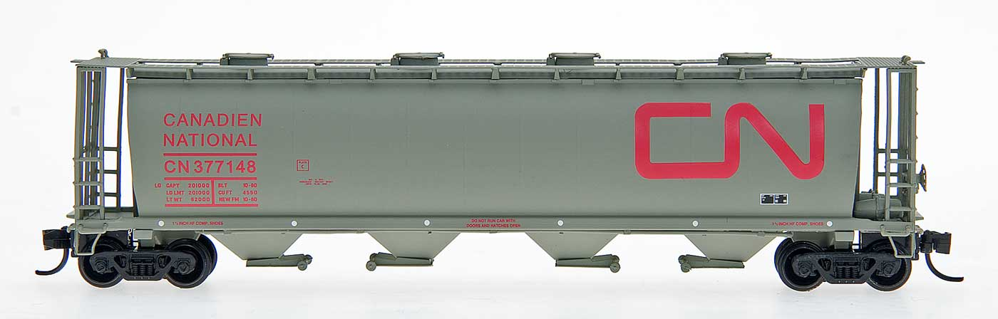 N Scale - InterMountain - 65205-37 - Covered Hopper, 4-Bay, Cylindrical - Canadian National - 377148