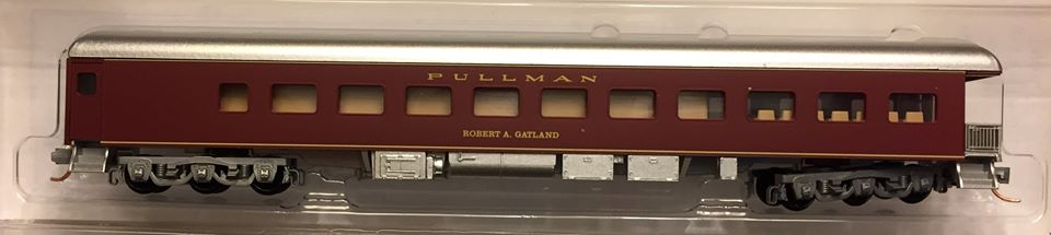 N Scale - Micro-Trains - NSE MTL 18-29 - Passenger Car, Heavyweight, Pullman, Observation - NTRAK - Robert A Gatland