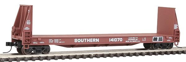 N Scale - Walthers - 932-8908 - Flatcar, Bulkhead Pulpwood - Southern - 141070