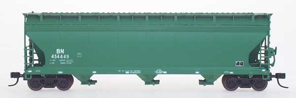 N Scale - InterMountain - 67018-28 - Covered Hopper, 3-Bay, ACF 4650 - Burlington Northern - 454466