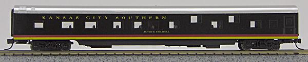 N Scale - Con-Cor - 0001-040050 - Passenger Car, Smoothside, 85 Foot Coach - Kansas City Southern - Arthur Stilwell