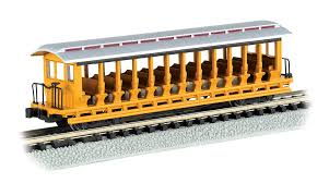 N Scale - Bachmann - 19398 - Passenger Car, Open-Side Excursion Car - Painted/Unlettered