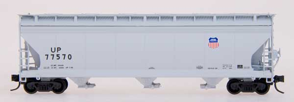 N Scale - InterMountain - 67060-12 - Covered Hopper, 3-Bay, ACF 4650 - Union Pacific - 77768
