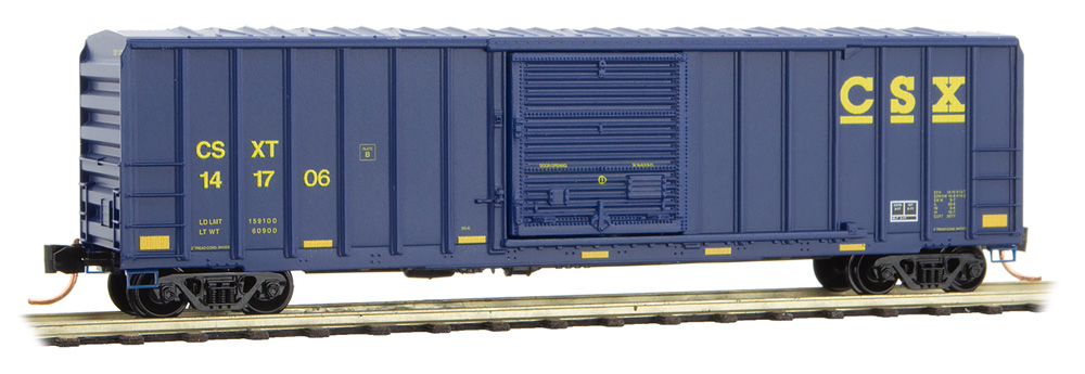 N Scale - Micro-Trains - 025 00 117 - Boxcar, 50 Foot, FMC, 5077 - CSX Transportation - 141706