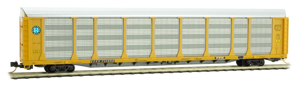 N Scale - Micro-Trains - 111 00 210 - Autorack, Enclosed, Tri-Level - Burlington Northern Santa Fe - 711052