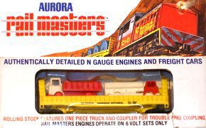 N Scale - Aurora Rail Masters - 5476 - Flatcar, Bulkhead - Western Maryland
