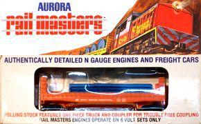 N Scale - Aurora Rail Masters - 5475 - Flatcar, Bulkhead - Penn Central - 55601