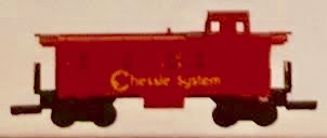N Scale - Aurora Rail Masters - 5475-300R - Caboose, Cupola, Steel - Chessie System