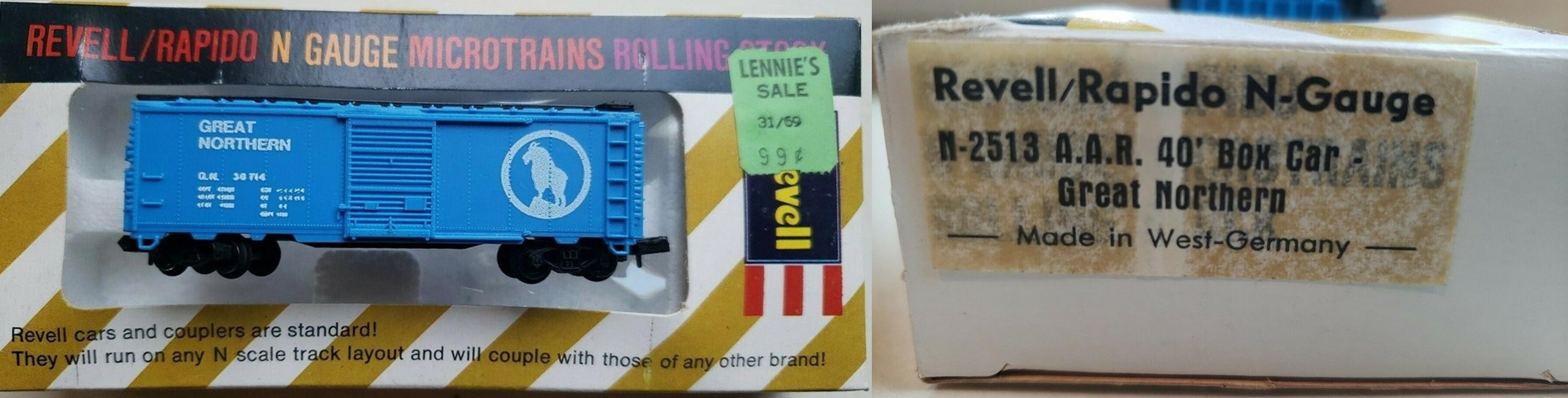 N Scale - Revell - 2513 - Boxcar, 40 Foot, AAR 1937 - Great Northern - 36714