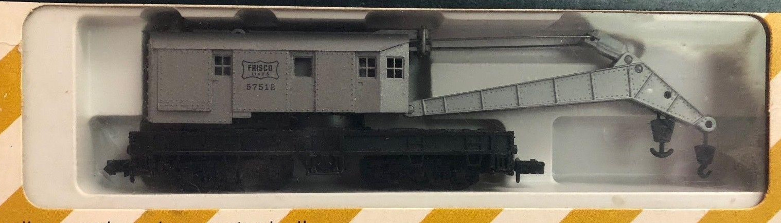 N Scale - Revell - 2610 - Maintenance of Way, Wrecking Crane, North America - Frisco