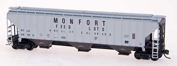 N Scale - InterMountain - 65316-17 - Covered Hopper, 3-Bay, Thrall 4750 - Monfort Packaging - 34789