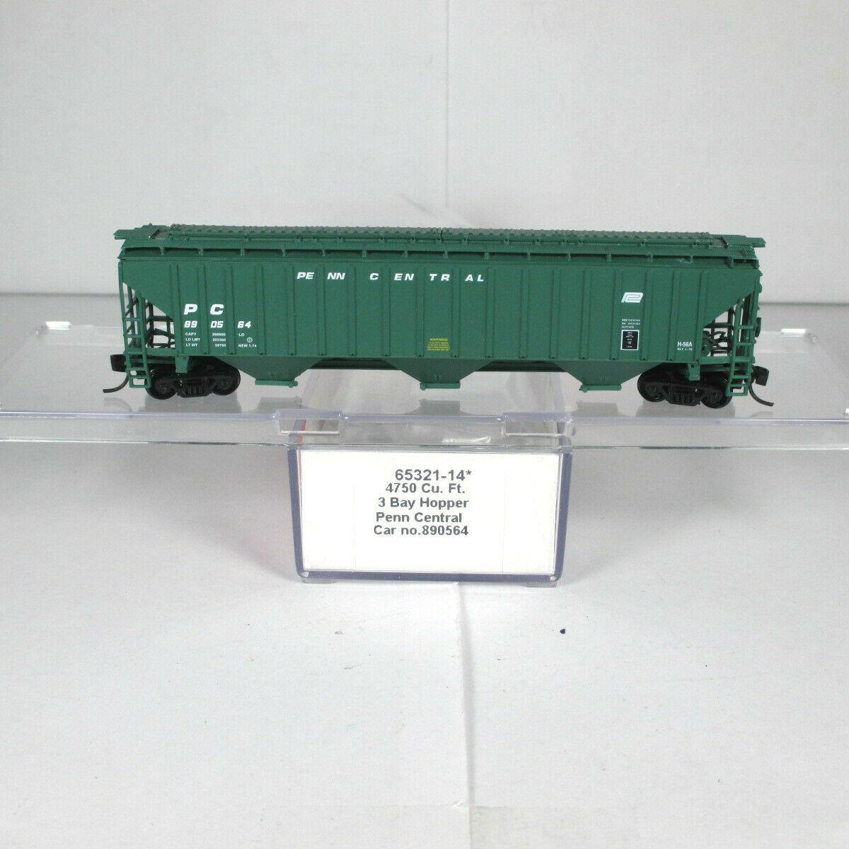 N Scale - InterMountain - 65321-14 - Covered Hopper, 3-Bay, Thrall 4750 - Penn Central - 890564