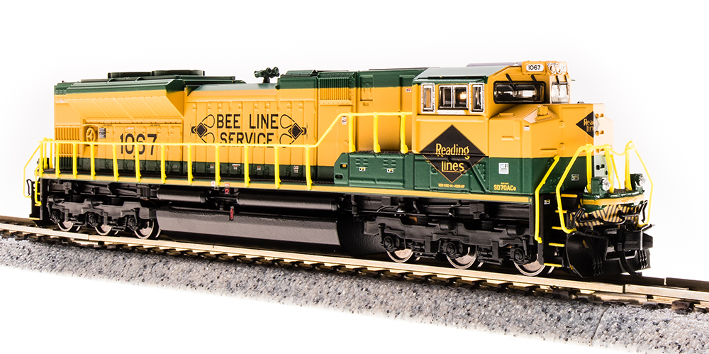N Scale - Broadway Limited - 3463 - Locomotive, Diesel, EMD SD70 - Reading - 1067