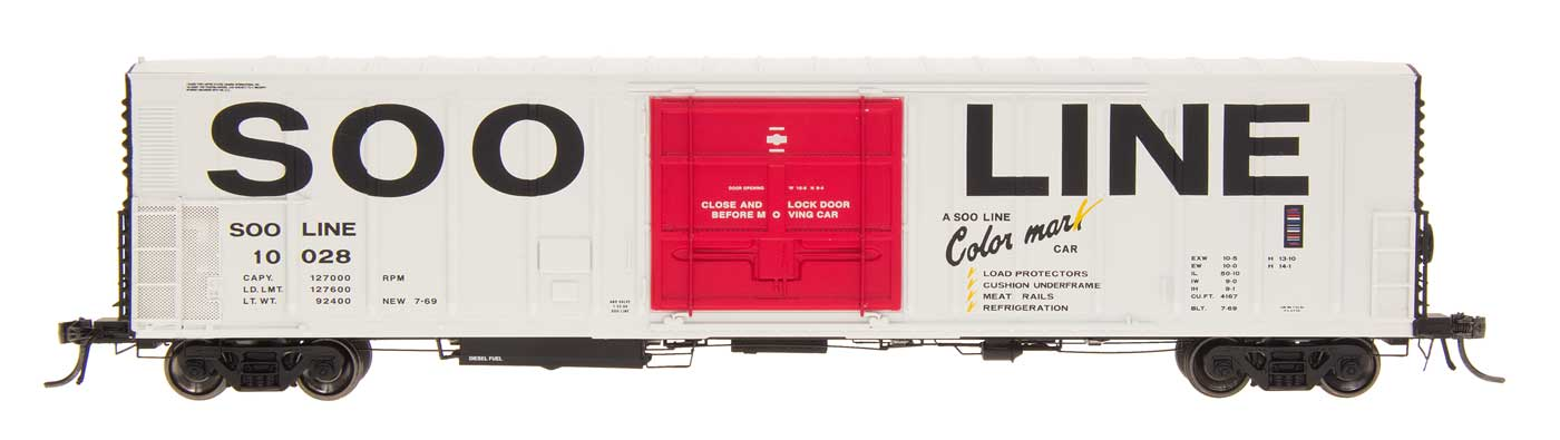N Scale - InterMountain - 68821-06 - Reefer, 57 Foot, Mechanical, PC&F R-70-20 - SOO Line - 10036