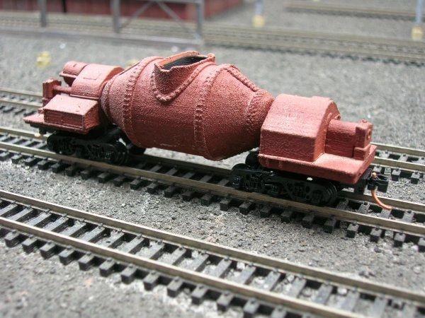 N Scale - KenRay - SM021 - Industrial, Steel Mill, Slag Car - Painted/Unlettered