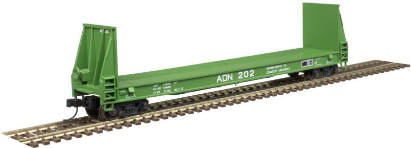 N Scale - Atlas -  50 004 859   - Flatcar, Bulkhead Pulpwood - Ashley Drew & Northern - 202