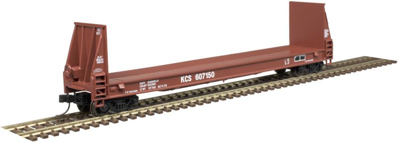N Scale - Atlas -  50 004 865 - Flatcar, Bulkhead Pulpwood - Kansas City Southern - 607109