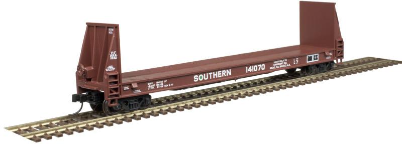 N Scale - Atlas -  50 004 871 - Flatcar, Bulkhead Pulpwood - Southern - 141070