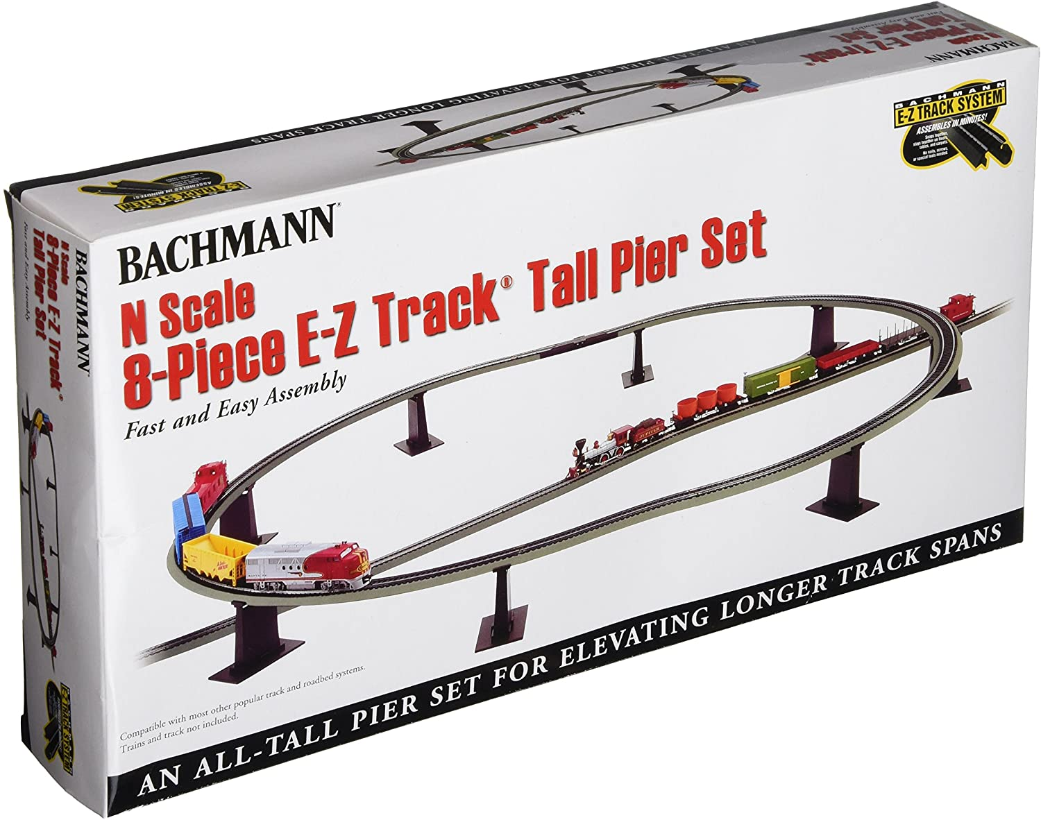 N Scale - Bachmann - 44872 - Tall Pier - Bridges and Piers