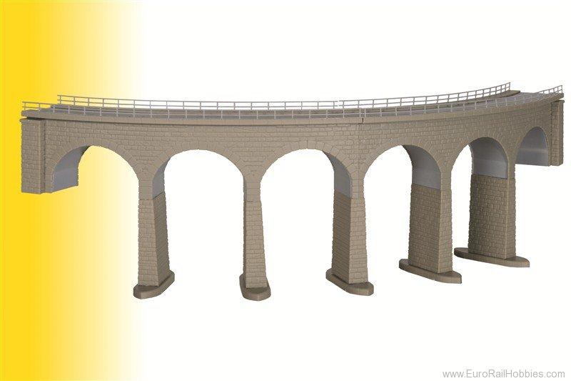 N Scale - Kibri - 37664 - Curved stone viaduct - Bridges and Piers