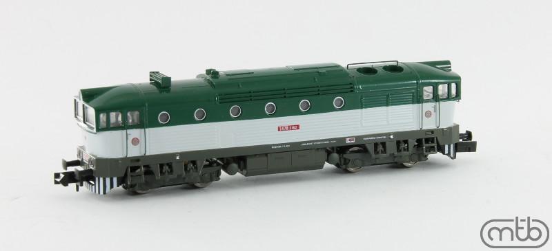 N Scale - MTB-model - N753-T162 - Locomotive, Diesel, ČSD Class 750, 753, 754 - ČSD (Czechoslovak Railways) - T478 3162
