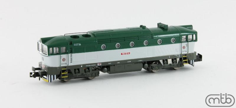 N Scale - MTB-model - N753-127 - Locomotive, Diesel, ČSD Class 750, 753, 754 - ČD (Czech Railways) - 750 127-0