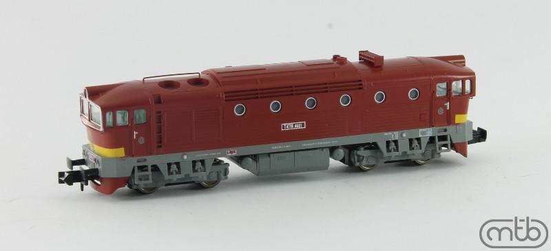N Scale - MTB-model - N478-4021 - Locomotive, Diesel, ČSD Class 750, 753, 754 - ČSD (Czechoslovak Railways) - T478 4021