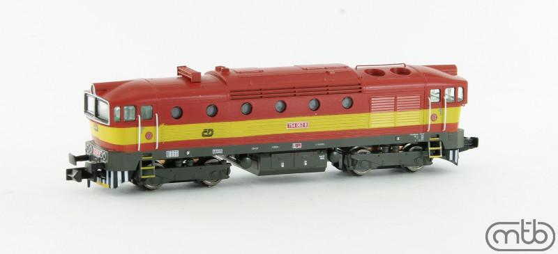 N Scale - MTB-model - N754-062 - Locomotive, Diesel, ČSD Class 750, 753, 754 - ČD (Czech Railways) - 754 062-8