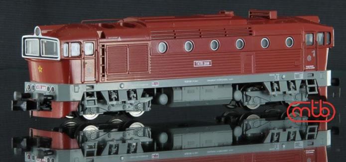N Scale - MTB-model - N753-T098 - Locomotive, Diesel, ČSD Class 750, 753, 754 - ČSD (Czechoslovak Railways) - T478 3098