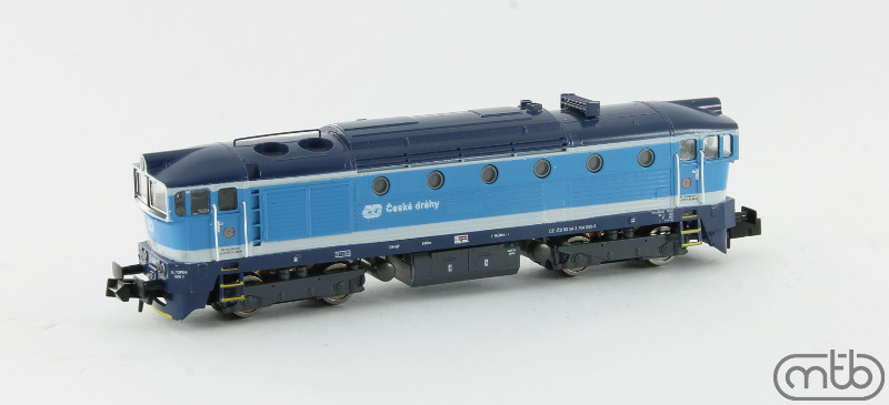 N Scale - MTB-model - N754-006 - Locomotive, Diesel, ČSD Class 750, 753, 754 - ČD (Czech Railways) - 754 006-5