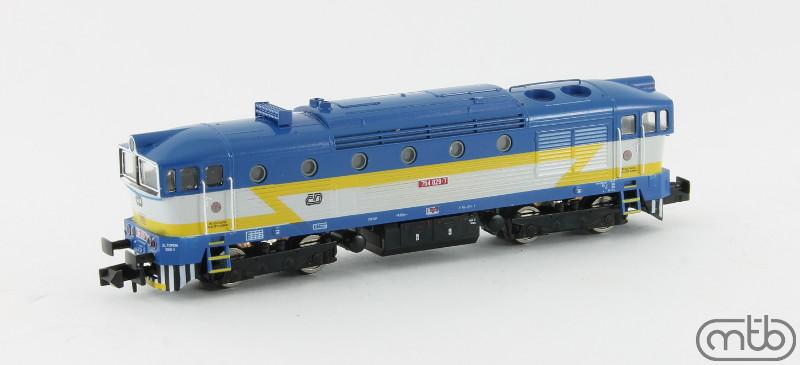 N Scale - MTB-model - N754-029 - Locomotive, Diesel, ČSD Class 750, 753, 754 - ČD (Czech Railways) - 754 029-7