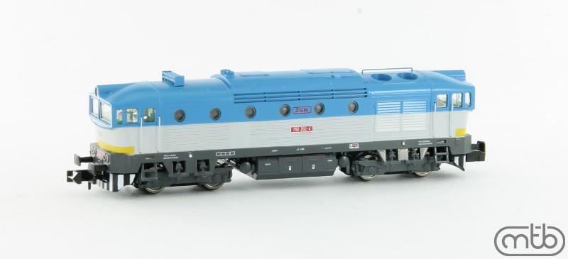 N Scale - MTB-model - N750-202 - Locomotive, Diesel, ČSD Class 750, 753, 754 - ŽSR (Slovakian Republic Railways) - 750 202-4