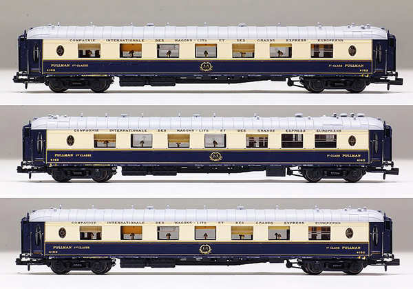 N Scale - L.S. Models - 79170 - Passenger Car, CIWL, Pullman - Compagnie Internationale des Wagons-Lits - 4143 , 4150, 4162