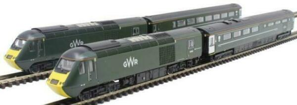 N Scale - Dapol - 2D-019-009 - Locomotive, Diesel, BR Class 43 (HST) - Great Western (TOC) - 43187, 43188 + 2 coaches
