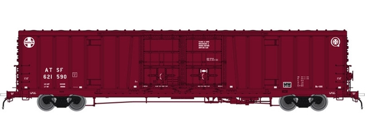 N Scale - Atlas - 50 004 058 - Boxcar, 62 Foot, BX-166 - Santa Fe - 621590